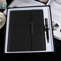 Taccuino dell'unità di elaborazione del diario di affari e regalo stabiliti di promozione con il USB e la penna
