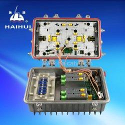 CATV Noeud/récepteur à fibres optiques avec AGC