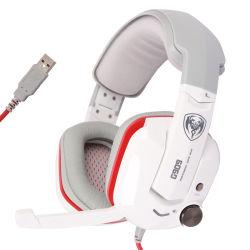 [سميك] [غ909] [غمر] سماعة فعليّة 7.1 مجساميّة يبرق قمار سمّاعة رأس اهتزاز سماعة سمّاعة رأس مع ميكروفون لأنّ حاسوب حاسوب