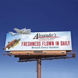 في الهواء الطلق مزدوجة الجانب الصلب هيكل بانر بانر بإضاءة خلفية إعلان لوحة الإعلانات Unipole Billboard
