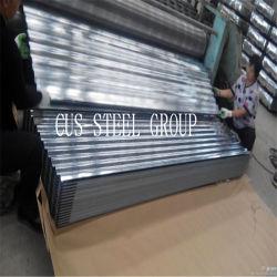 Somalia SGS Impermeabilización de cubiertas con perfil ondulado de revestimiento de la hoja de hoja de hierro galvanizado/