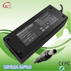 Chargeur de batterie portable portable Adaptateur AC DC Toshiba /HP/Delta/Acer/Liteon /ls/ordinateur portable de la passerelle 19V 6.3A