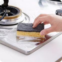 Umweltfreundlicher vielseitiger natürlicher saugfähiger Zellulose-Reinigungs-Schwamm für Küche mit biodegradierbarem Paket
