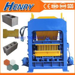 Автоматические гидравлические4-15 Qt широко используется кирпич блок решений машин Бангладеш бетонное