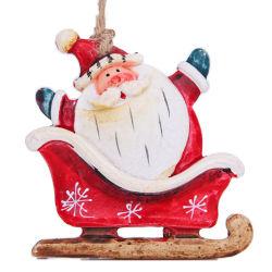 Ornamenti della Santa del pupazzo di neve di Polyresin della decorazione dell'albero di festa di natale