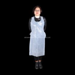 Одноразовые молочно-белого цвета High Gloss PE защитный фартук для больницы