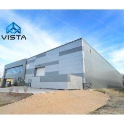 L'industria ha prefabbricato la struttura chiara della costruzione galvanizzata disegno moderno modulare fabbricata costruzione prefabbricata del blocco per grafici d'acciaio del metallo della costruzione della serra del magazzino del workshop