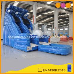 大人および子供(AQ10132)のための膨脹可能な水おもちゃのイルカのプールのスライド