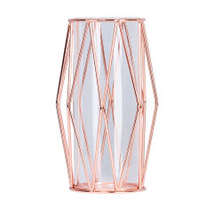Jarrón de flores de metal geométrica hidropónicos vasos de tubo de ensayo de racks para Bodas Decoración de la mesa