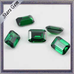 [غود قوليتي] مستطيلة شكل اللون الأخضر حجر كريم اصطناعيّة [ننو]