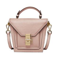 Zweep van de Manier van de douane de Met de hand gemaakte Echte Dame Leather Handbag