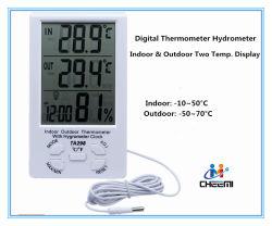 Ta298 실내 옥외 2 온도 전시 LCD 디지털 비중계 온도계