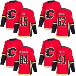 Het Hockey Jerseys van Mike Smith Spencer Foo Austin Carroll van de Vlammen van Calgary