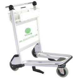 Nature Rubber Wheels Aluminium Alloy Airport Trolley Cart