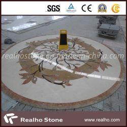 Beau design marbre Waterjet médaillon