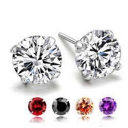 Наиболее востребованных AAA+ Циркон моды четыре выступа шпилька Earring серебряные украшения