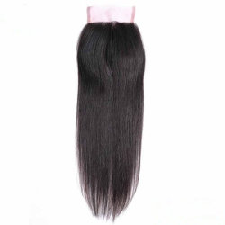 Good Quality Cheap Indian Virgin Human Hair Top Lace Closure Pieces 4*4 Silky Straight Closure