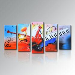 Mega Pack Eco Friendly Handmade Peinture d'huile de la musique de guitare de toile d'art mural