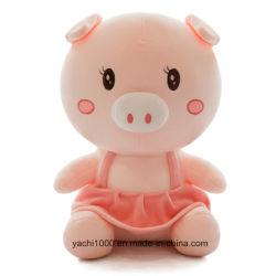 Reizendes Plüsch-Schwein mit Kleid