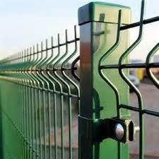 3D изогнутые ПВХ порошковое покрытие стальной сварной проволочной сеткой стены безопасности