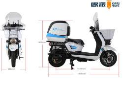 電動オートバイのファーストフード配達電気スクーターの大きい後部箱