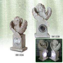 La résine chaude de l'artisanat vendre Polyresin statue Ange Jardin lumière solaire pour la décoration