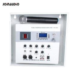Публичный адрес класса D (цифровой) установка на стену в классе/Зал Bluetooth усилитель со встроенным микрофоном UHF