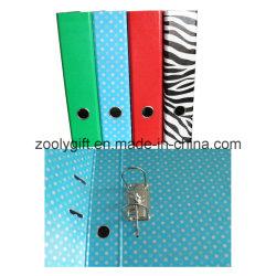 Arquivo de alavanca com pasta de arquivo de impressão da Zebra de perfuração