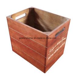Big andar para Creat Box engradados de madeira pintada com Engradado de gravação a laser