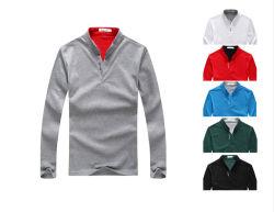Algodão personalizados de alta qualidade masculina de Manga Longa camisa Polo