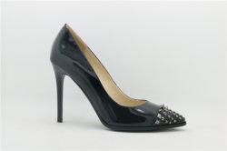 Moda zapatos de tacón alto cuero señaló zapatos de mujer