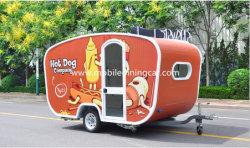 セリウムの証明書を持つホットドッグを販売する小さい食糧トレーラー