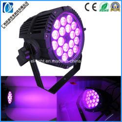 Resistente al agua 18*15W 4en1 5en1 6en1 PAR LED de luz con Color UV