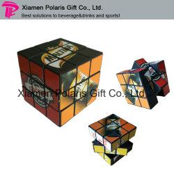 Cubo magico di puzzle di PS del giocattolo educativo di stampa di marchio di colore completo del nero 6cm per il regalo promozionale