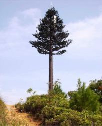 Aço decorativas Folhas de Palmeira Artificial Tower