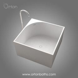 Nuova vasca da bagno di superficie solida materiale innovatrice della resina acrilica per sostituire la vasca da bagno del ghisa