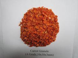 Сорт осушенного моркови гранул 10x10x3мм