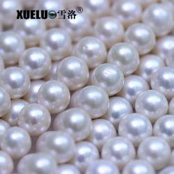 9-10mm AA Calidad Muy cultivadas de agua dulce natural de la Ronda Real Perlas Zhuji Pearl farm (XL180103)
