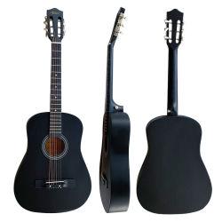 Aiersi Cor Preta Basswood Barato preço 38 polegada iniciante guitarra acústica instrumentos de String