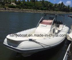 Yacht gonfiabile della nervatura della barca delle baracche del guscio della vetroresina della Cina Liya 8.3m