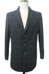 Мужчин с учетом установите Tweed Клетчатую твёрдый нанесите на зимние куртки долго пальто