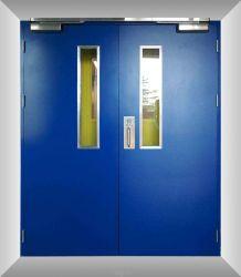 التصميم الداخلي الخارجي BS شهادة SUS 304 Steلس Steel Steel Steel Emergency Enty Steel Security Door with Window Vision (رؤية النافذة)