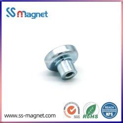常置ネオジムの鍋のねじのための穴が付いている磁石によって焼結させるNdFeBの磁石のコップ