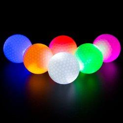 カスタムゴルフフラッシュ球モノクロ常置明るいカラーLEDゴルフ・ボールOEM