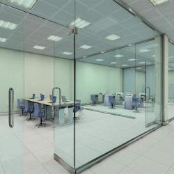 De architecturale Duidelijke/Met een laag bedekte Gelamineerde Aangemaakte Muur van de Verdeling van het Glas