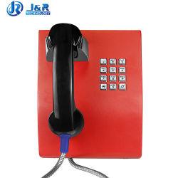 De aan de muur bevestigde Diensten van de Metro van de Telefoon telefoneren Industriële Telefoon voor Bank