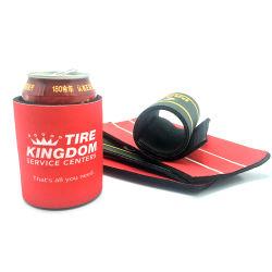 Personalizada de Fábrica com isolamento de Neoprene elástico da mola Slap Wrap refrigerador pode Stubby Titular da Luva de cerveja