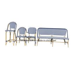 Heißes Verkaufs-synthetisches Rattanim freienrecliner-Aufenthaltsraum-Prüftisch-Möbel
