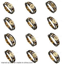 Boucles en alliage de bronze à la mode des signes du zodiaque Bracelet Bracelet Cuir Punk