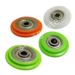 8X45 8x53mm muebles armario de la rueda de puerta corrediza de plástico
